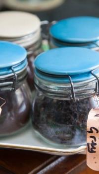 Selection of loose leaf teas